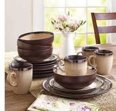 gardens 16 piece sierra dinnerware set
