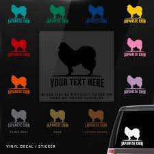 Personalized Vinyl Sticker Laptop Wall Dog Japanese Chin Car Window Decal Auto Parts And Vehicles Car Truck Graphics Decals Magenta Cl