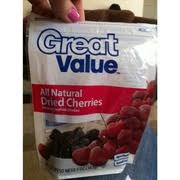 great value all natural dried cherries