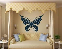 Large Butterfly Decal Vinyl Wall Art Girls Butter Fly Wall Etsy