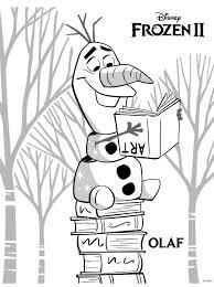 Kids N Fun Kleurplaat Frozen 2 Frozen 2 Olaf