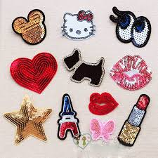 Aliexpress Com Buy Mix Randomly 11pcs Lot Small Sequins Bead Piece Clothing Jeans Patch T Shirt Bags Decorative Decal Can Ironing Or Hand Sewing From Reliable