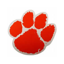 Clemson Tigers Tiger Paw Car Magnet