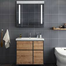 winsome toilet cabinet mirror led light