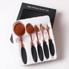oval makeup brush set professional