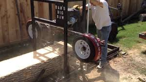 homemade bandsaw sawmill you
