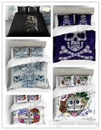 sugar skull bedding set twin full queen