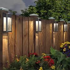 Paradise Solar Led Post Light Set 4 Pack Backyard Lighting Solar Fence Lights Backyard Fences