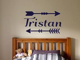 Amazon Com Wall Vinyl Sticker Tristan Name Boy Arrow Inscription Kids Room Mural Decal Art Decor Lp0548 Handmade
