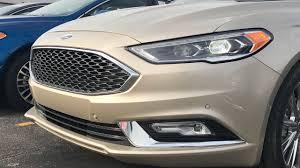 2017 ford fusion platinum white gold