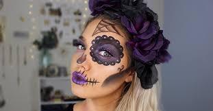 simple sugar skull makeup idea for
