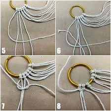 diy macrame necklace tutorial step by