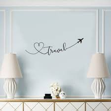 Hot Price 2f0e Creative Travel Theme Wall Sticker Art Font Bedroom Living Room Decoration Decals Wallpaper Hand Carved Home Background Stickers Cicig Co