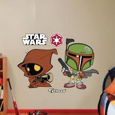 Star Wars Boba Fett Jawa Pop Duo Wall Decal