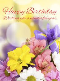 gorgeous flower happy birthday card