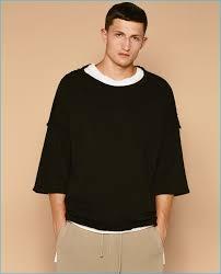 zara mens black and white t shirt