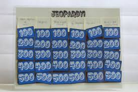 make your own jeopardy board playing
