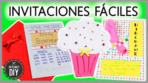 Invitaciones De Cumpleanos Faciles Ideas Diy Faciles En