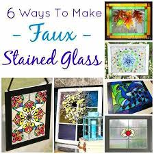 6 ways to make faux stained glass diy