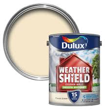 Dulux Weathershield Classic Cream Smooth Masonry Paint 5l Departments Tradepoint