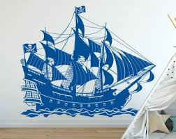 Pirate Ship Decal Etsy