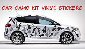 Full Car Camo Kit Stickers Camouflage Any 2 Colours Vinyl Wrap Decals Ebay In 2020 Vinyl Wrap Camo Car Vinyl For Cars