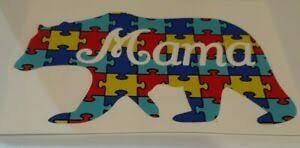 Mama Bear Autism Awareness Puzzle Piece Vinyl Decal Car Yeti Window Tumbler Cup Ebay