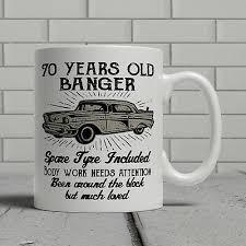 70th birthday mug funny banger cheeky
