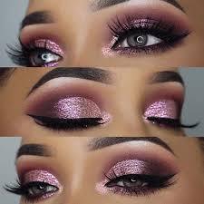 pink eye makeup glitter saubhaya makeup