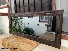 com black wood mirror reclaimed