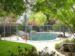 The Safest And Strongest Pool Fence 1 Swimming Pool Safety Fencing With Pool Gate Small Backyard Pool Fence Backyard Pool Designs