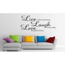 Live Laugh Love Vinyl Wall Sticker Decal Wallpaper Wall Art Home Decor 77 L Walmart Com Walmart Com
