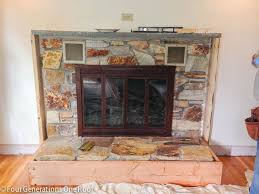 our fireplace makeover begins stage 1