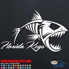 Florida Keys Fish Skeleton Car Decal Sticker Fishing Decal