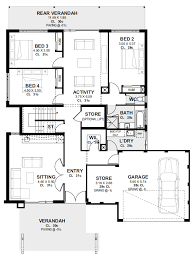 4 bedroom house plans home designs
