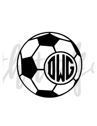 Personalized Soccer Ball Monogram Vinyl Decal Car Decal Etsy
