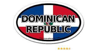 Amazon Com Dominican Republic Flag Car Bumper Sticker Decal Oval Arts Crafts Sewing