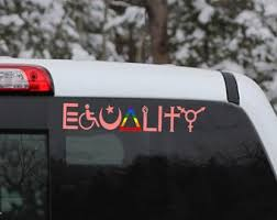 Equality Car Decal Etsy