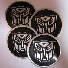 Buy 4x Aluminum Transformer Autobot Badge Emblem Sticker Car Wheels Center Caps Hub Motorcycle In Guangdong China Cn For Us 0 99