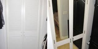 diy mirrored closet door makeover add