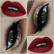 eye makeup for gold dress cat eye makeup