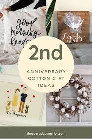 2nd anniversary cotton gift ideas