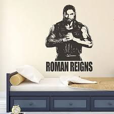 Free Shipping Removable Self Adhesive Sports Theme Wall Decal Wwe Star Roman Reigns Sticker For Livingroom Clubs And Bars Stickers For Wall Decalsroman Reigns Aliexpress