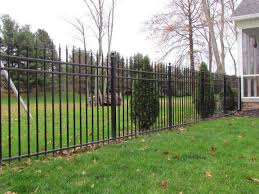 Residential Aluminum Fence Black Metal Fence