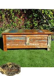 recycled timber blanket box storage table