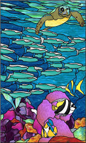 florida underwater stained glass