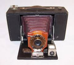 Antique 1906 Kodak No. 3 Model B Folding Brownie Camera Red ...