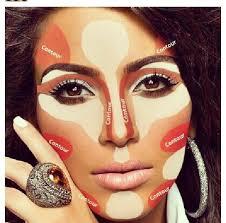 highlight makeup with contour highlight