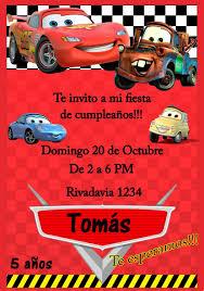 Tarjeta Invitacion Cars Digital Cumpleanos 150 00 En Mercado Libre