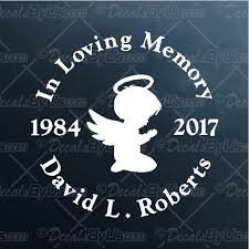 In Memory Boy Angel Decal In Memory Boy Angel Car Sticker Lowest Prices